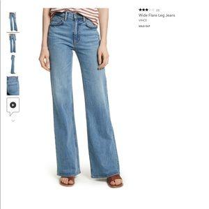 Vince Sold Out Santa Fe Wide Bottom Jeans